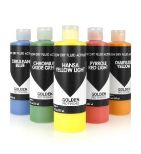 GOLDEN Slow Dry Fluid Acrylics