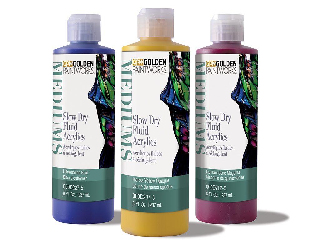 Slow Dry Fluid Acrylics