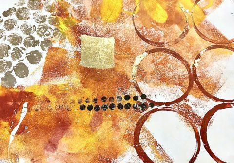 Abstract Circles decorative finish