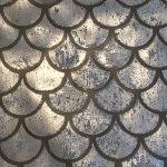 Raised Metallic Mermaid Tail decorative finish