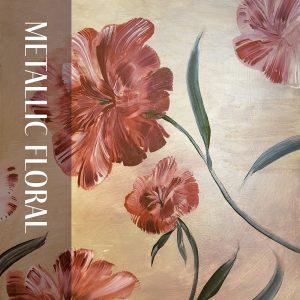 """Metallic Floral"" by Cecelia Claire."